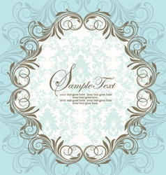 Blue vintage ornate frame vector