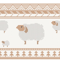Knitted sheep vector