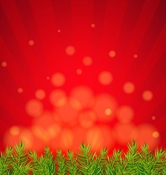 Happy xmas border with red sunburst vector