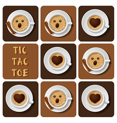 Tic-tac-toe of cappuccino vector