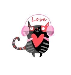Graphic of a cat lover vector