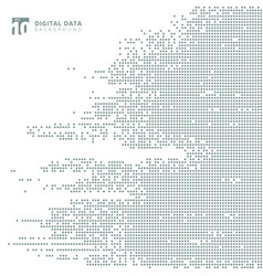 abstract technology digital data square gray vector image