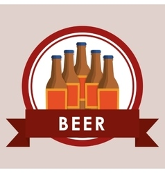 beer bottles label vector image vector image