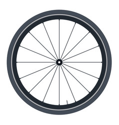 Bike wheel - on white vector