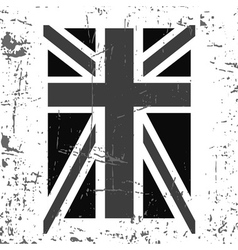 British flag t shirt typography graphics black vector image