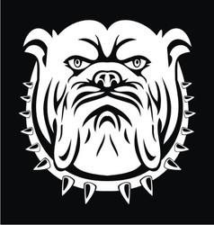 Bulldog face vector