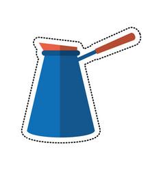 Cartoon coffee pot steel image vector
