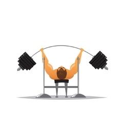 Cartoon weightlifter vector image vector image