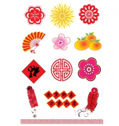 Chinese new year element vector