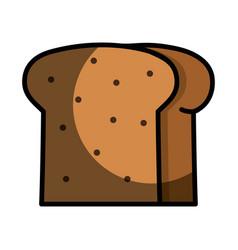 Delicious slice bread bakery food vector