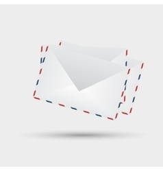 envelopes on white background vector image