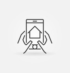 Find real estate via smartphone vector