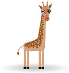 Funny Giraffe on white background vector image vector image