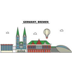 germany bremen city skyline architecture vector image