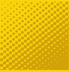 halftone dots on yellow background vector image vector image