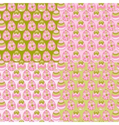 Happy Easter eggs pattern background vector image