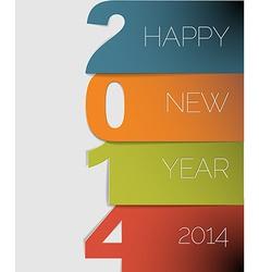 Happy new year 2014 card vector