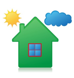 house sun and cloud concept 01 vector image vector image