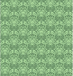 Intricate green luxury seamless pattern on dark vector