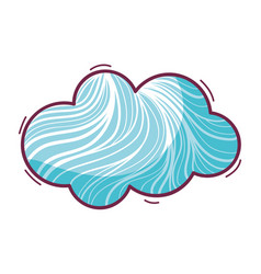 Nice cloud in the sky concept design vector