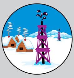 petroleum emblem vector image