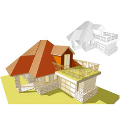 Roof terrace vector