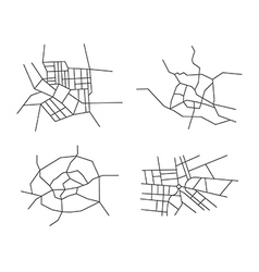 Schemes of the cities - set vector