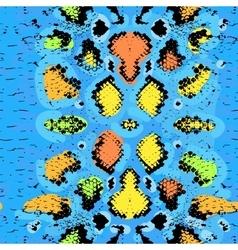 Snake skin texture seamless pattern blue orange vector