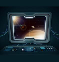 space ship window vector image vector image
