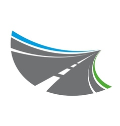 Stylized tarred road with markings vector image vector image