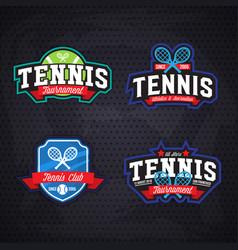 tennis logo badge design templat vector image vector image