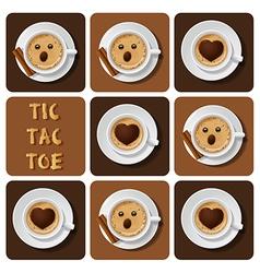 Tic-tac-toe of cappuccino vector