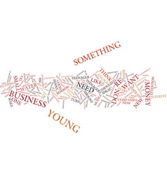 Young entrepreneurs text background word cloud vector