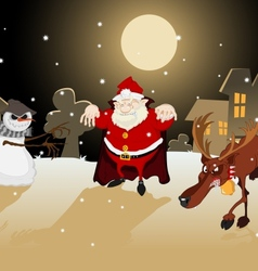 Dreadful Christmas vector image