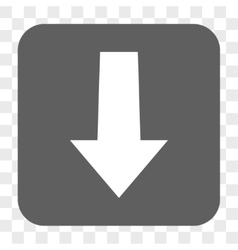 Arrow down rounded square button vector