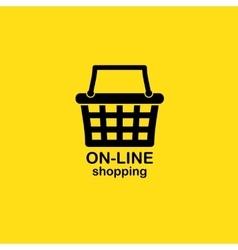 Web shopping background vector image