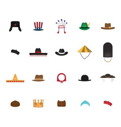 Set of nation hat vector