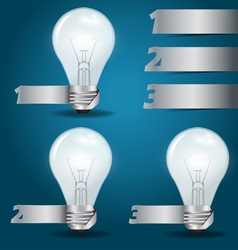 Light bulb idea with modern template vector