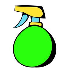 green plastic spray bottle icon icon cartoon vector image
