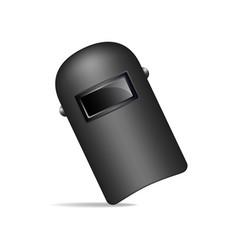 protective welding mask in black design vector image