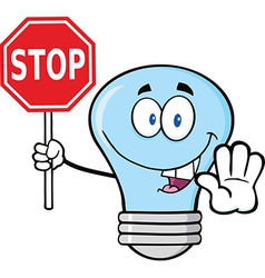 Light bulb holding a sign vector image