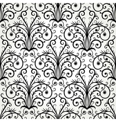 Seamless black and white floral abstract ornament vector image