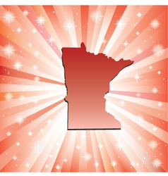Red Minnesota vector image