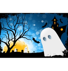 Grunge halloween card vector