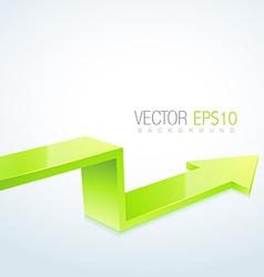 3d arrow design vector image vector image