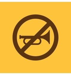 The keep quiet icon no sound symbol flat vector