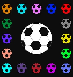 Football icon sign lots of colorful symbols for vector