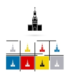 Kremlin in moscow icon vector