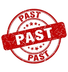 Past red grunge round vintage rubber stamp vector