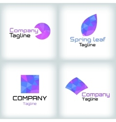 Business icons set logo design vector